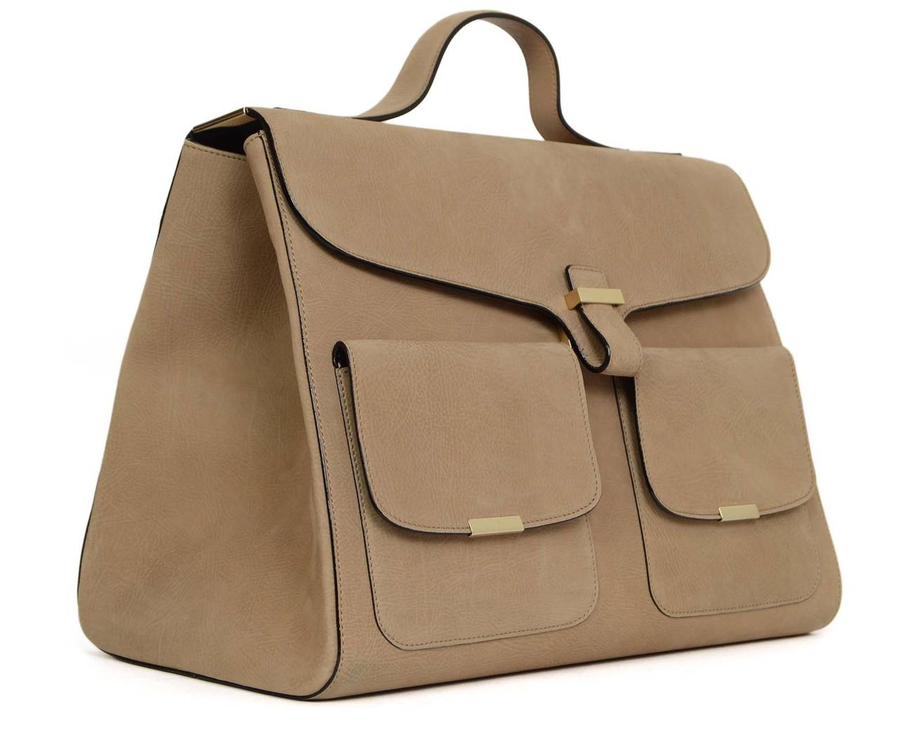 "Victoria Beckham Tan Suede ""Harper"" Bag 