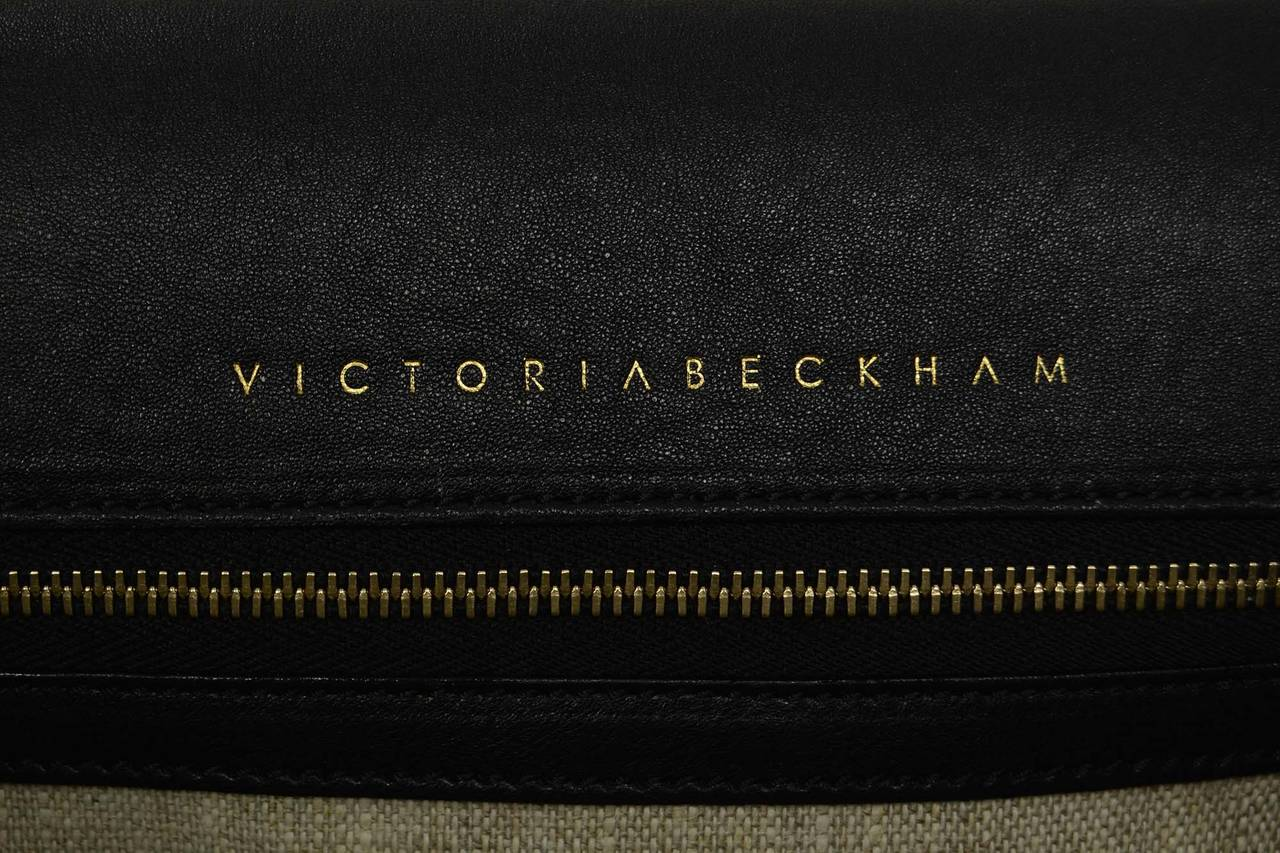 "VICTORIA BECKHAM Tan Suede ""Harper"" Bag SHW 7"