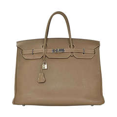 Hermes 2009 40cm Etoupe Togo Leather Birkin Bag