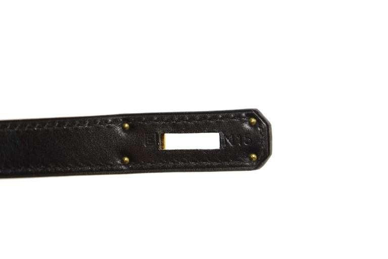 Hermes 2001 28cm Black Box Leather Rigid Kelly Bag GHW 8