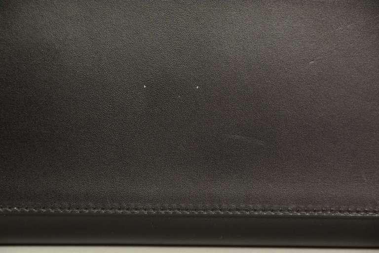 Hermes 2001 28cm Black Box Leather Rigid Kelly Bag GHW 9