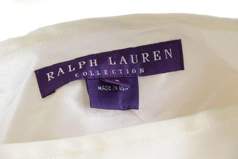 RALPH LAUREN Ivory Silk Pleated Organza Skirt Sz 12 Rt. $2,750 3