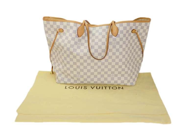 LOUIS VUITTON Damier Azur Neverfull GM Rt. $1,100 10