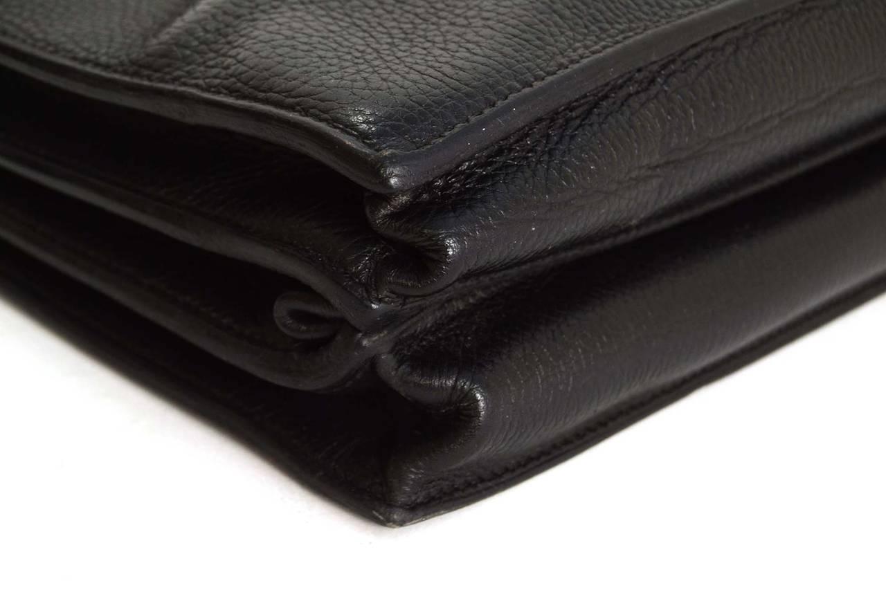 """HERMES Vintage '97 Black Ardennes Leather 38cm """"Sac a ..."""