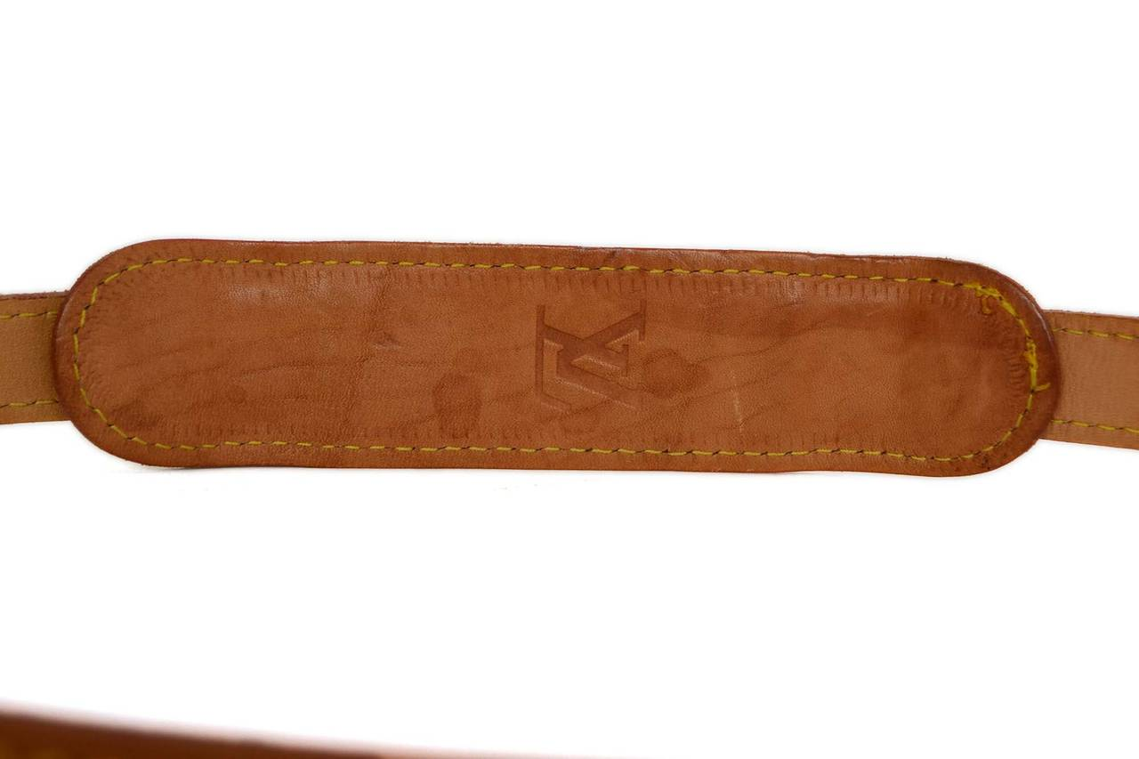 dbb552629fe3 LOUIS VUITTON Tan Leather Bag Strap GHW at 1stdibs