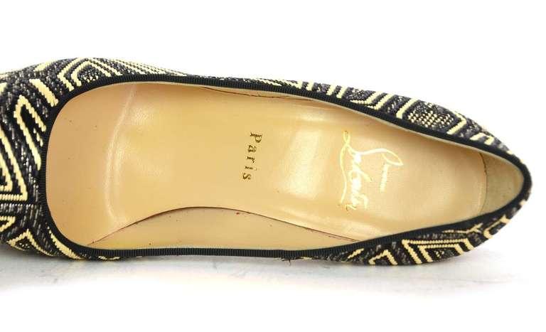 CHRISTIAN LOUBOUTIN Woven Raffia Daffodil Platform Shoes Sz 39 1/2 4