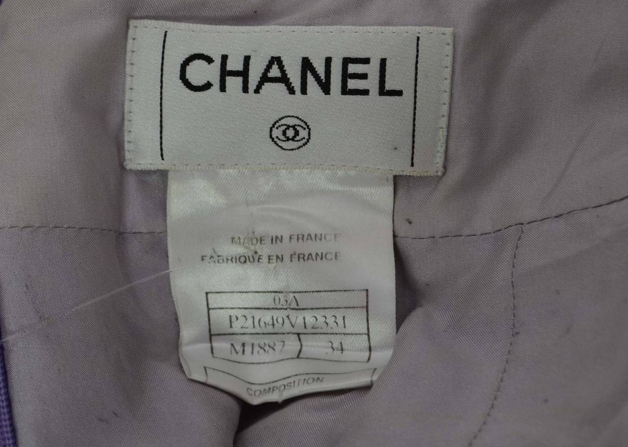 CHANEL Multi-Colored Tweed A-Line Skirt sz 34 5