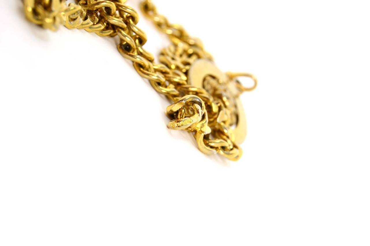 Women's CHANEL Vintage '50s-'60s Gold Three Tier Chain Link Belt