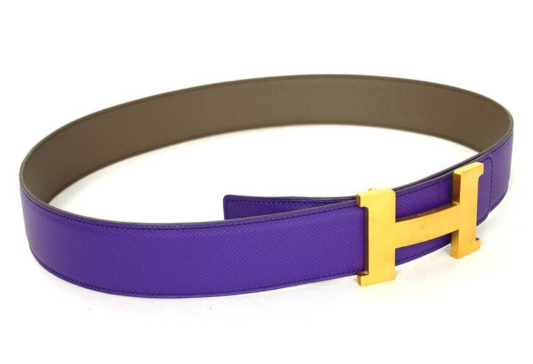 Hermes Belt Purple