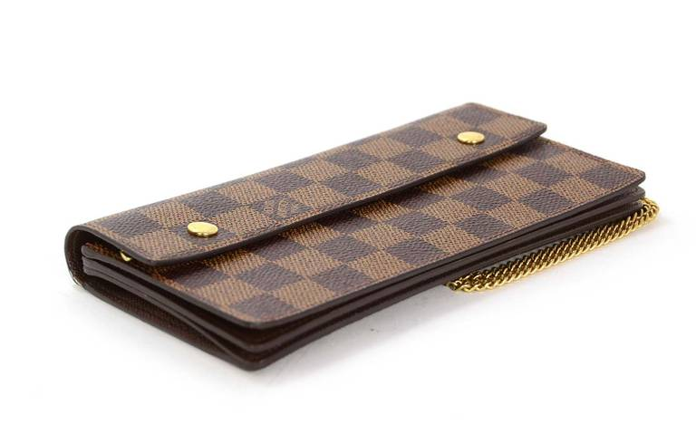 Louis Vuitton Damier Double Snap Wristlet Wallet At 1stdibs