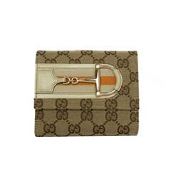 GUCCI Tan Monogram Wallet