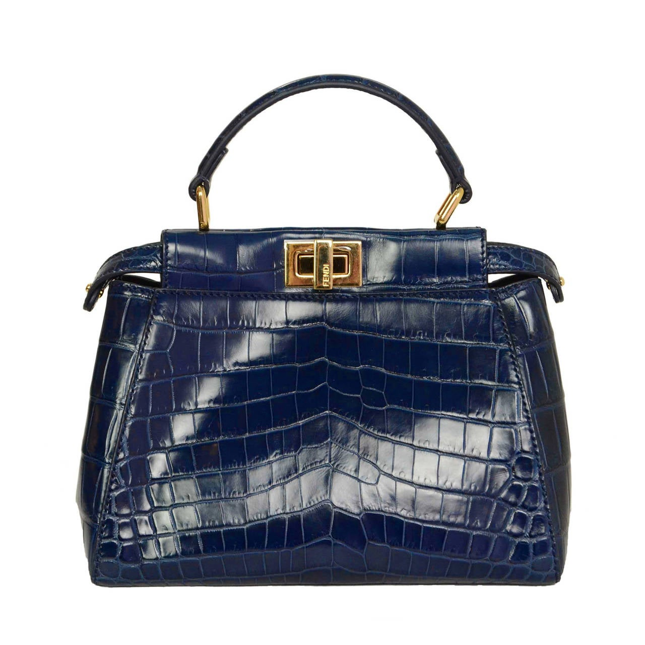 9c8b6ff71797 ... cheap fendi navy glazed crocodile mini peekaboo bag ghw for sale 2bf6f  37257