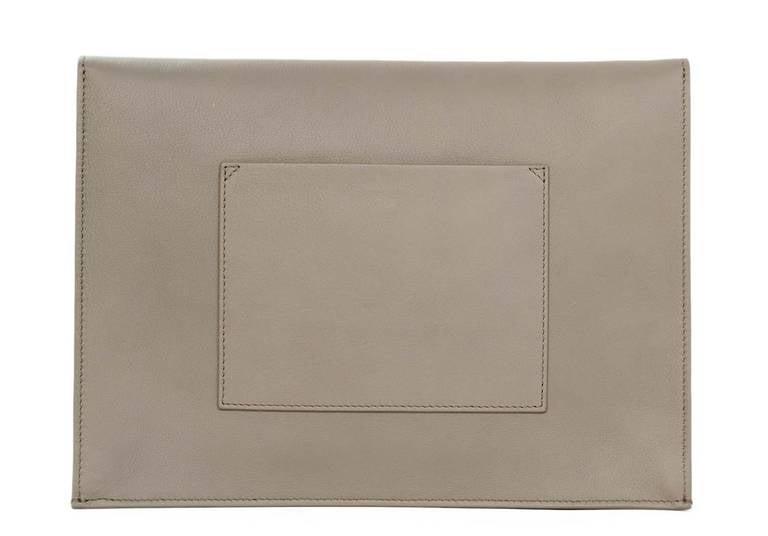 "Proenza Schouler Peach/Grey Two Tone Large ""Lunch Bag"" Flap Clutch rt. $915 3"