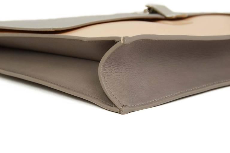"Proenza Schouler Peach/Grey Two Tone Large ""Lunch Bag"" Flap Clutch rt. $915 4"