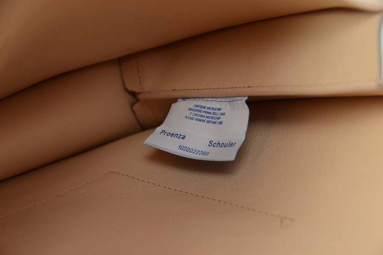 "Proenza Schouler Peach/Grey Two Tone Large ""Lunch Bag"" Flap Clutch rt. $915 8"
