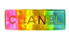 CHANEL Vintage '97 Iridescent Rainbow Resin Large Barrette