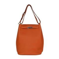 HERMES Orange Togo 26cm So Kelly Bag PHW