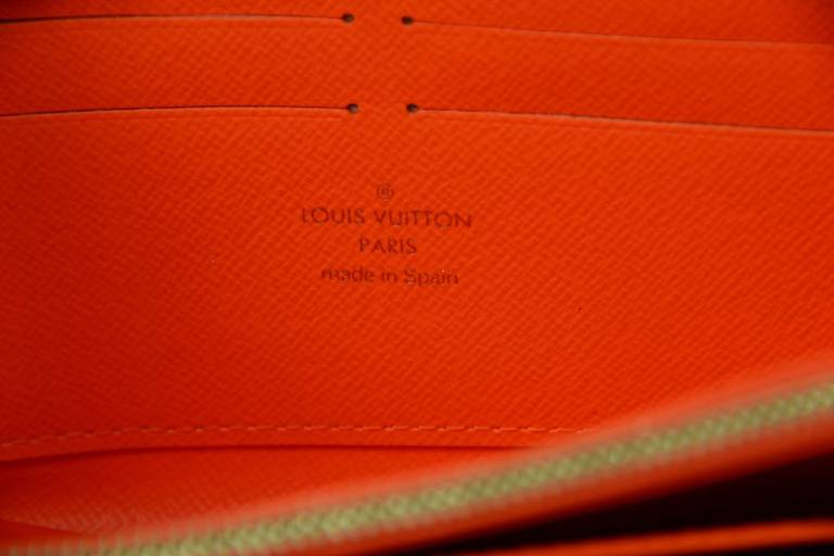 Louis Vuitton Limited Editiion Stephen Sprouse Neon Orange Graffiti Zippy Wallet 6