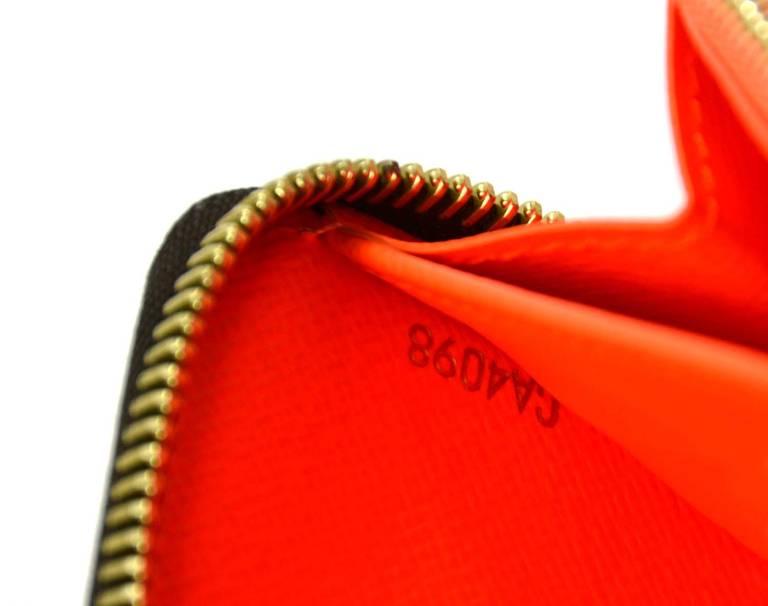 Louis Vuitton Limited Editiion Stephen Sprouse Neon Orange Graffiti Zippy Wallet 7