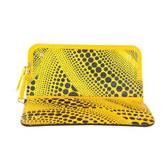 LOUIS VUITTON Yayoi Kusama Monogram Waves Yellow Insolite Wallet