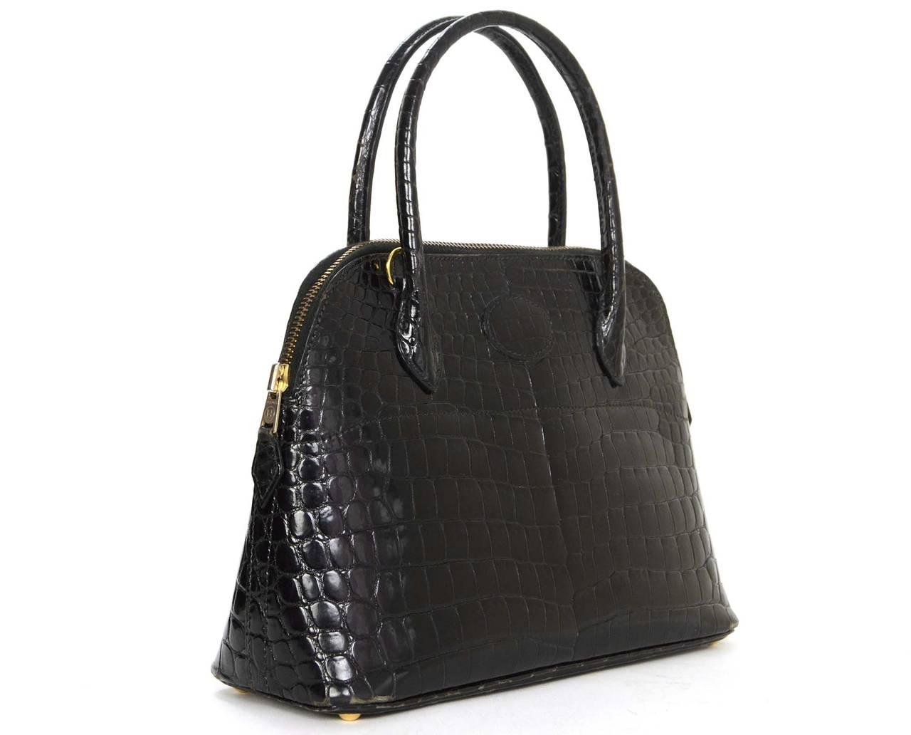 hermes bolide crocodile handbag