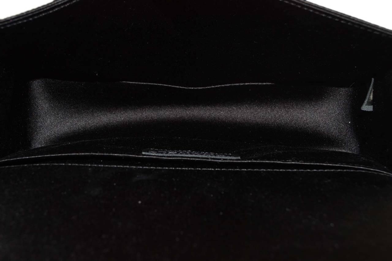 CHANEL '15 Ltd Ed. Black Satin & Pearl  Medium Boy Bag SHW 6