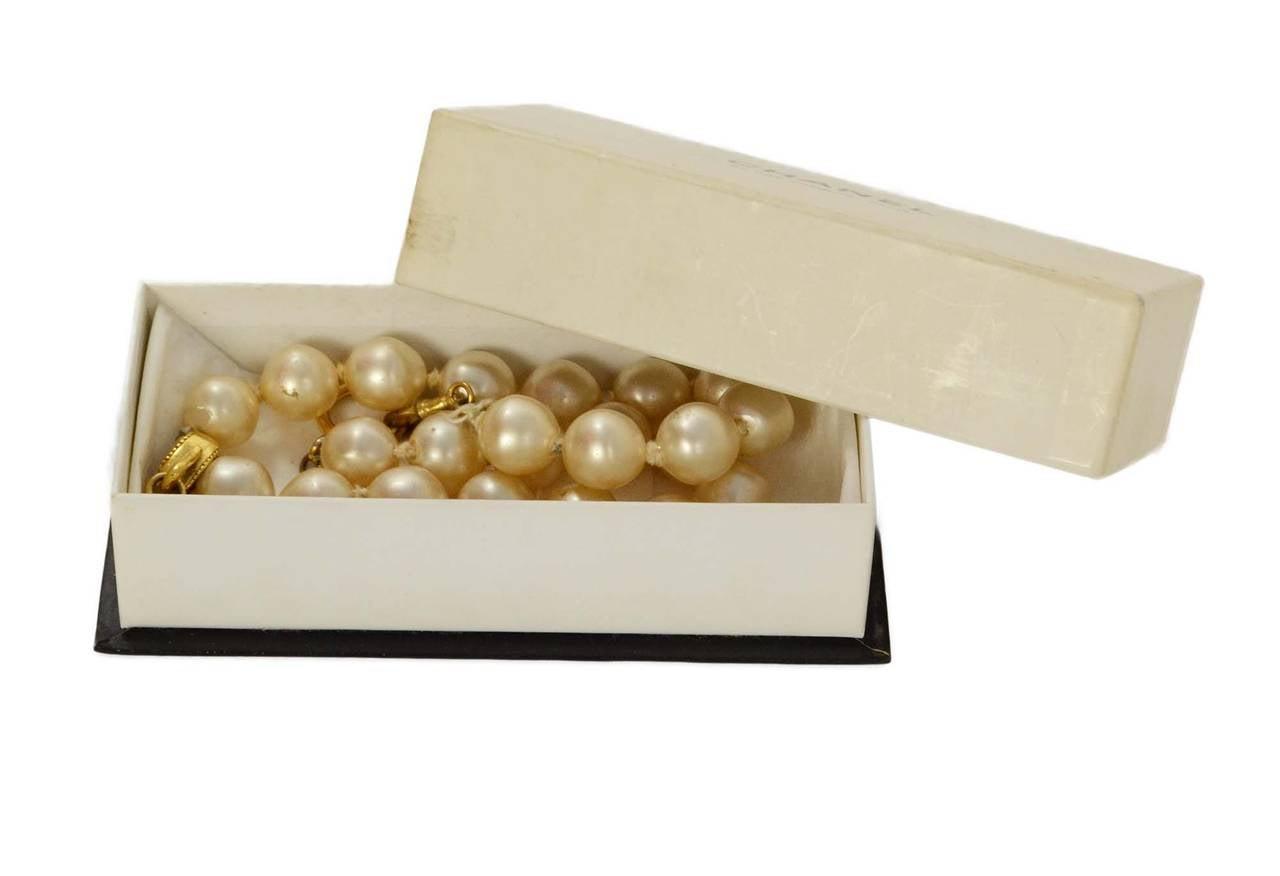 CHANEL Vintage '86 Pearl & Crystal Tear Drop Necklace 6
