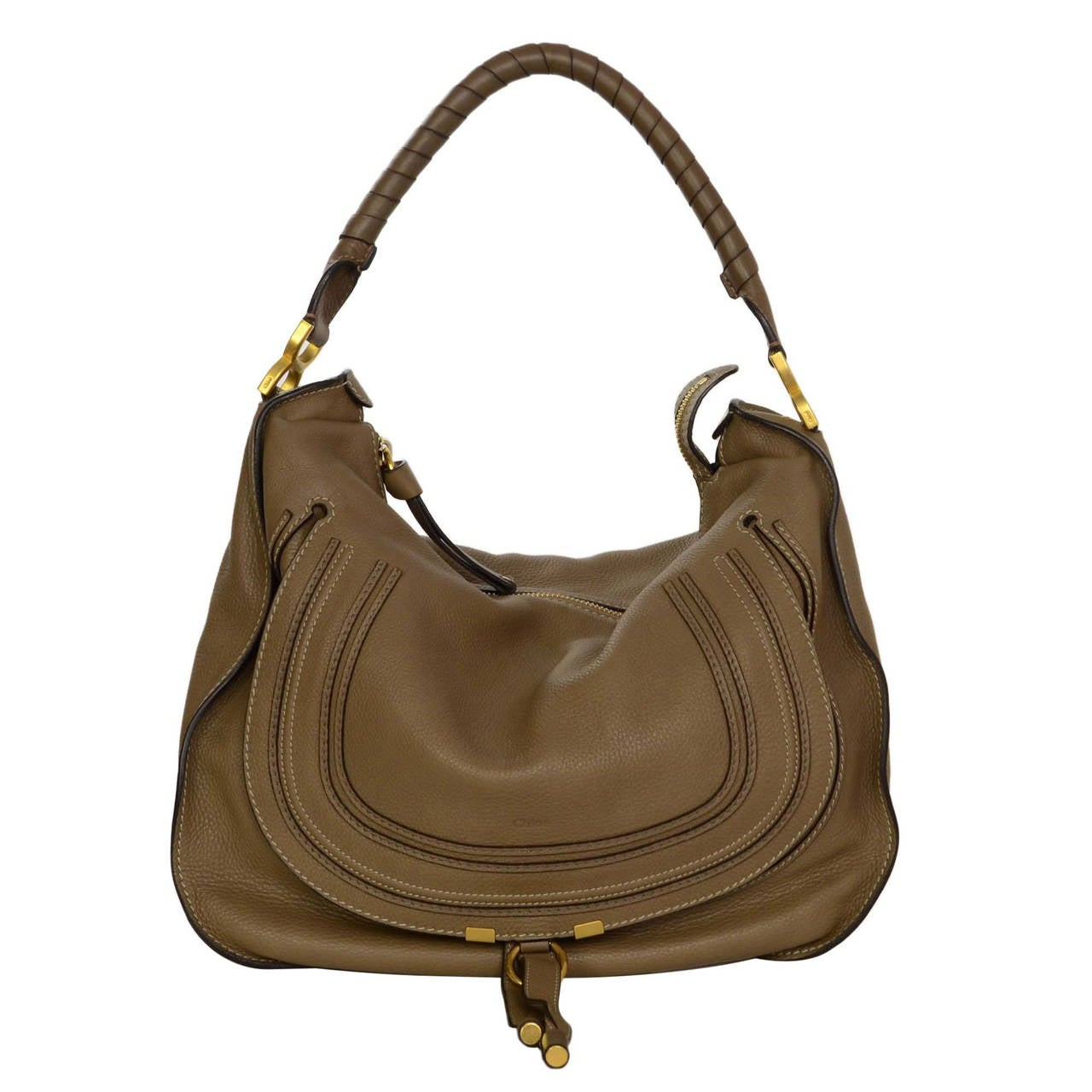 Hobo bags are hot this season! The Michael Kors Large Handbag Cream Leather Hobo Bag is a top 10 member favorite on Tradesy. Get yours before they're sold out!