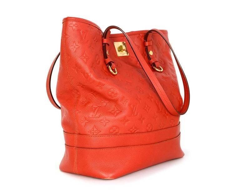 b6ebd02f0017d Louis Vuitton Orient Orange Empreinte Leather Monogram Citadine GM ...