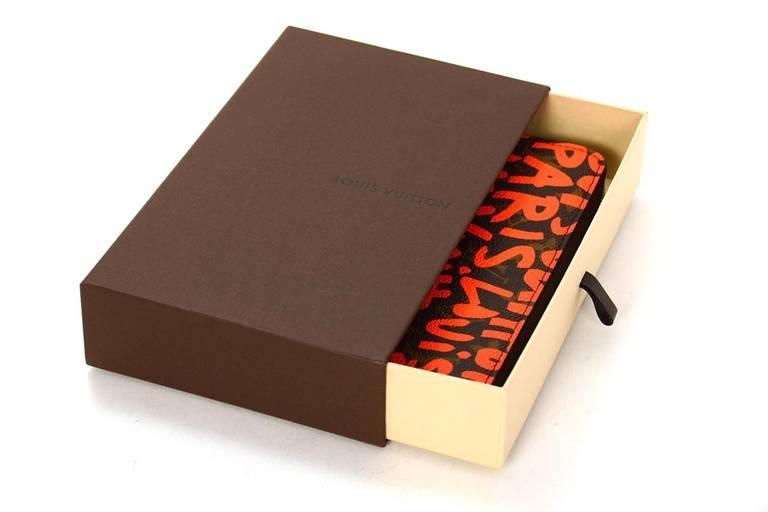 Louis Vuitton Limited Editiion Stephen Sprouse Neon Orange Graffiti Zippy Wallet 9
