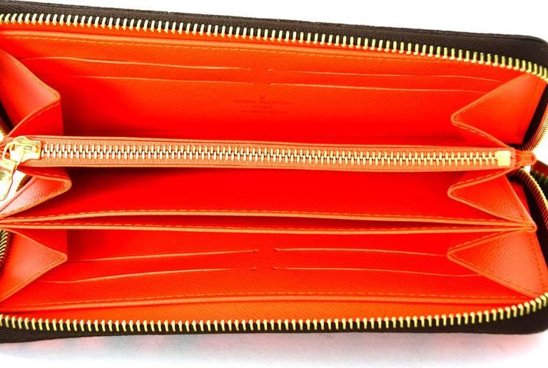 Louis Vuitton Limited Editiion Stephen Sprouse Neon Orange Graffiti Zippy Wallet 8