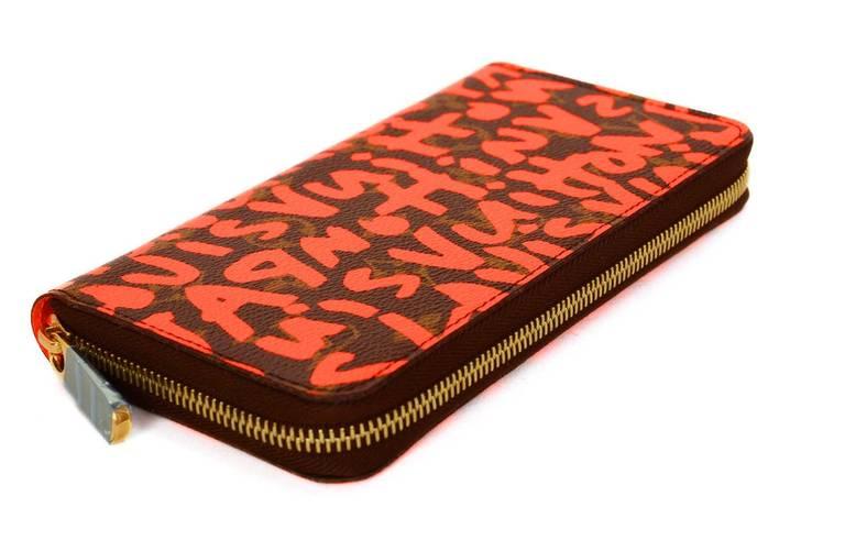 Louis Vuitton Limited Editiion Stephen Sprouse Neon Orange Graffiti Zippy Wallet 2