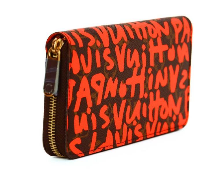 Louis Vuitton Limited Editiion Stephen Sprouse Neon Orange Graffiti Zippy Wallet 3