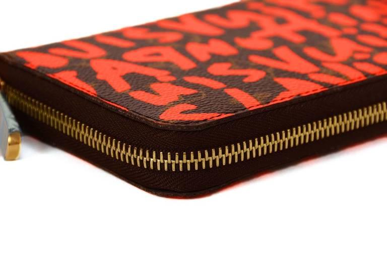 Louis Vuitton Limited Editiion Stephen Sprouse Neon Orange Graffiti Zippy Wallet 4