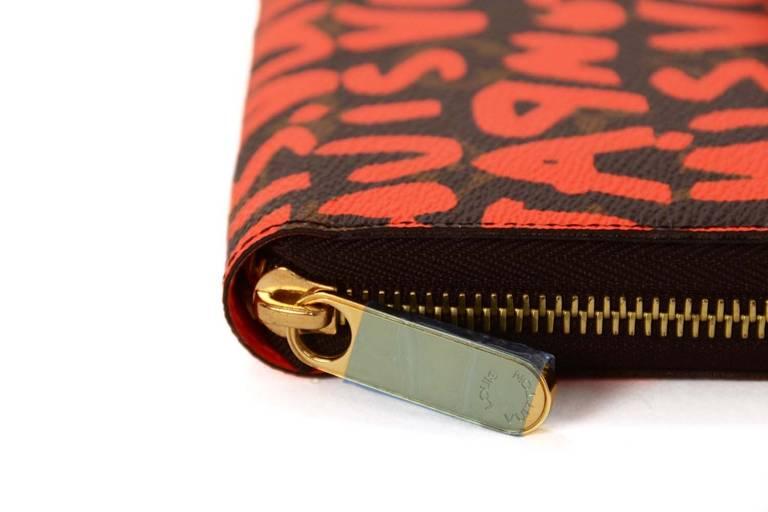 Louis Vuitton Limited Editiion Stephen Sprouse Neon Orange Graffiti Zippy Wallet 5