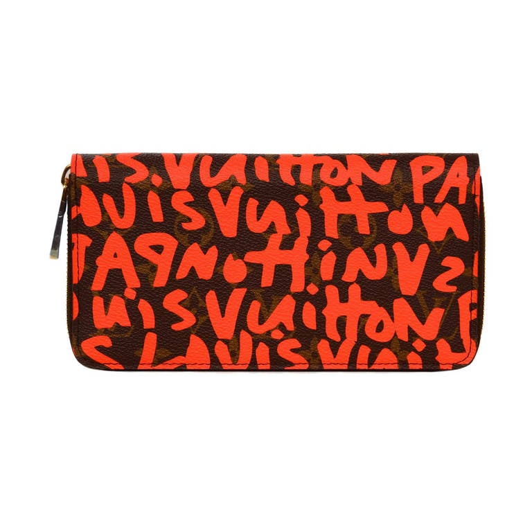 Louis Vuitton Limited Editiion Stephen Sprouse Neon Orange Graffiti Zippy Wallet 1