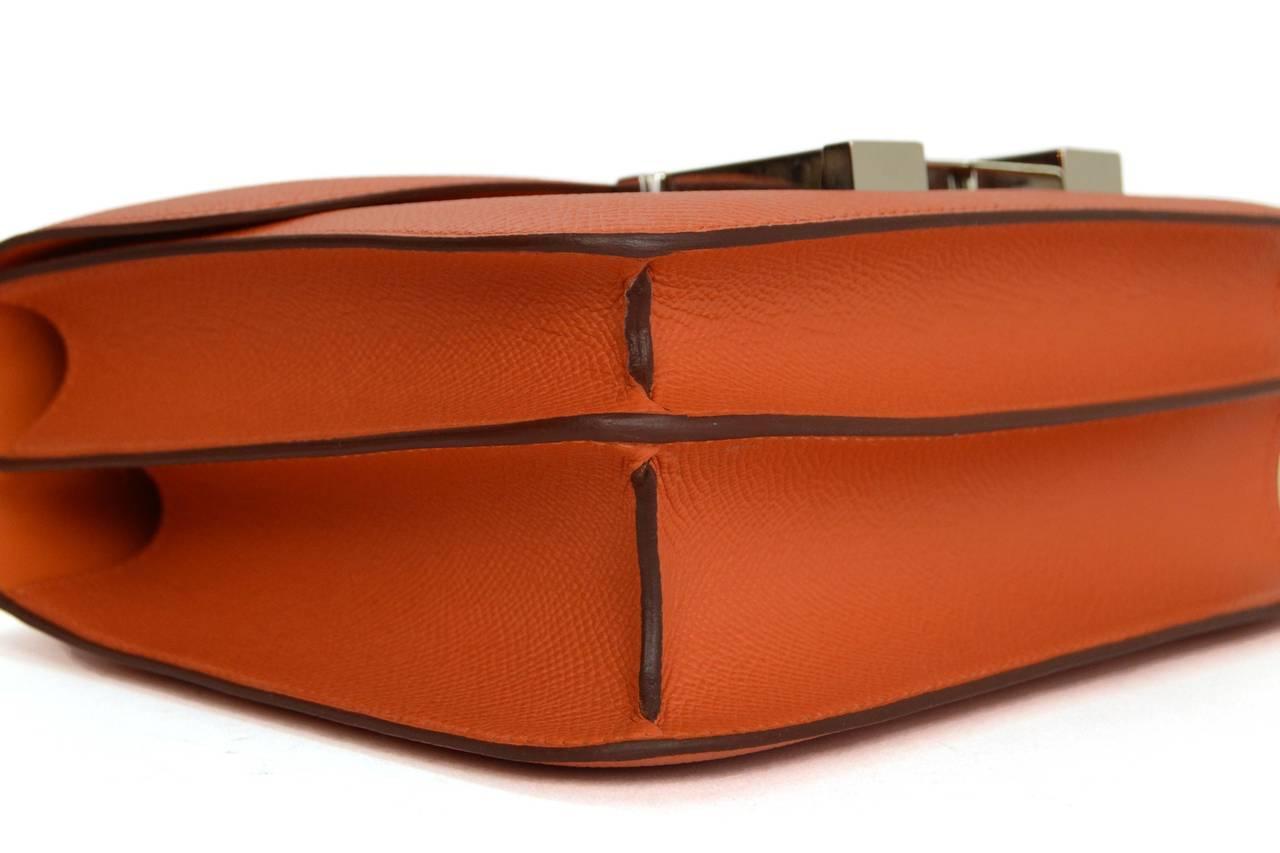 hermes constance bag 24cm orange epsom palladium hardware