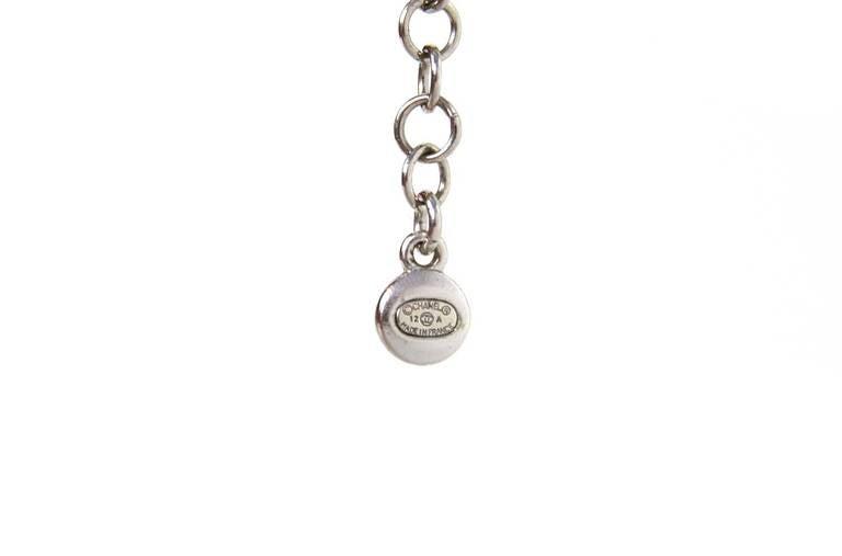 Chanel Paris-Bombay Silver Beaded Bib Necklace 6