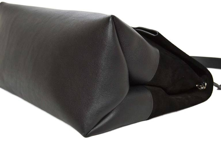 celine handbag for sale - Celine Black Suede/Leather All Soft Shoulder Bag rt. $2,600 at 1stdibs