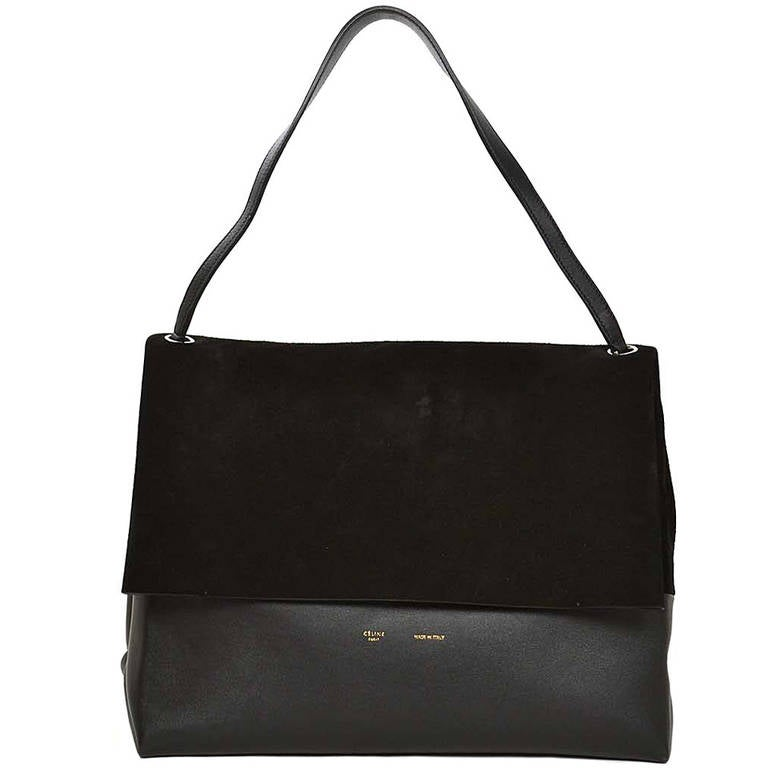 Celine Black Suede Leather All Soft Shoulder Bag Rt 2 600 For