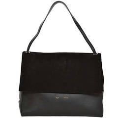 Celine Black Suede/Leather All Soft Shoulder Bag rt. $2,600