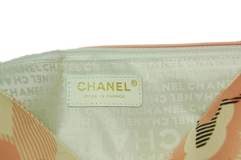 Chanel Cream, Pink & Brown Floral Flap Bag W. Puffy Flowers C. 06 7