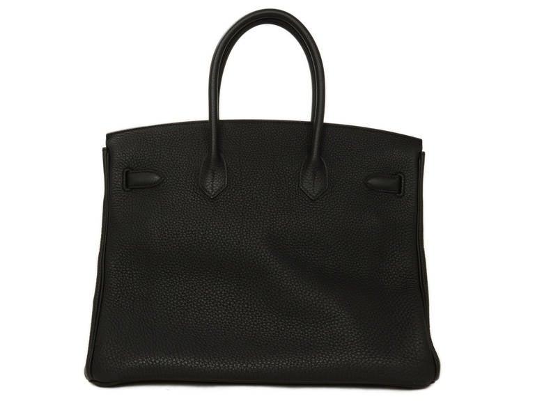 HERMES 2014 Black Togo Leather 35cm Birkin Bag GHW 2