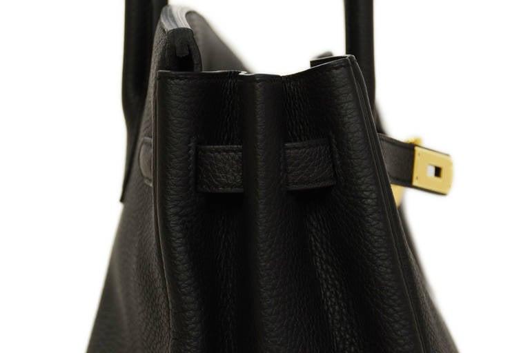 HERMES 2014 Black Togo Leather 35cm Birkin Bag GHW 3