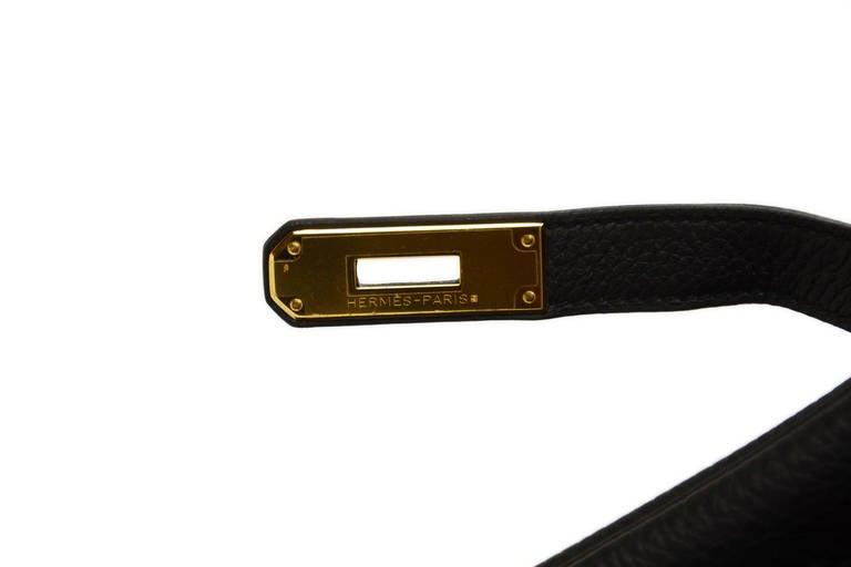 HERMES 2014 Black Togo Leather 35cm Birkin Bag GHW 4