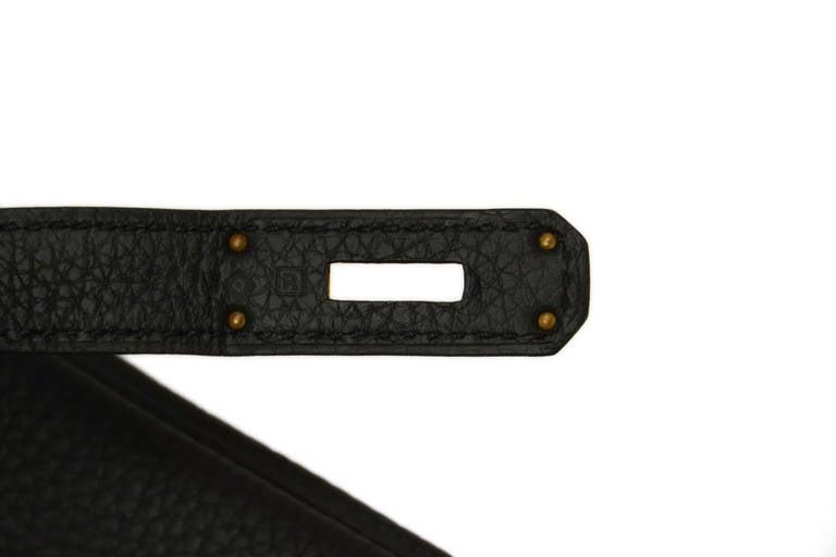 HERMES 2014 Black Togo Leather 35cm Birkin Bag GHW 5