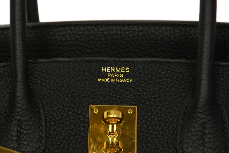 HERMES 2014 Black Togo Leather 35cm Birkin Bag GHW 6