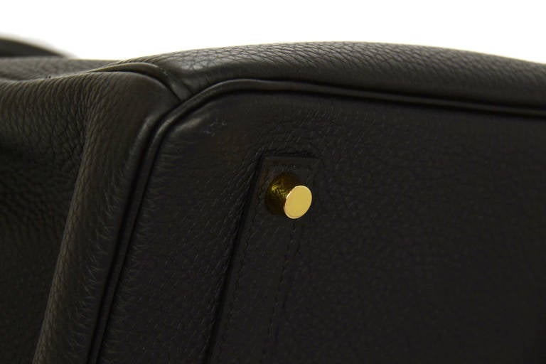 HERMES 2014 Black Togo Leather 35cm Birkin Bag GHW 7