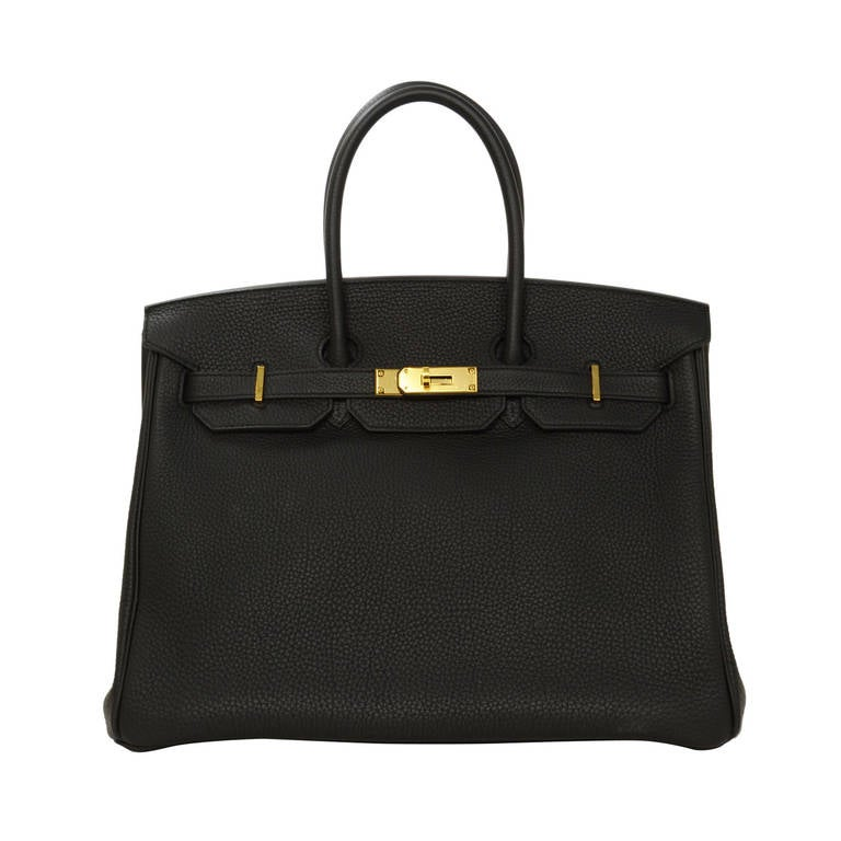 HERMES 2014 Black Togo Leather 35cm Birkin Bag GHW 1