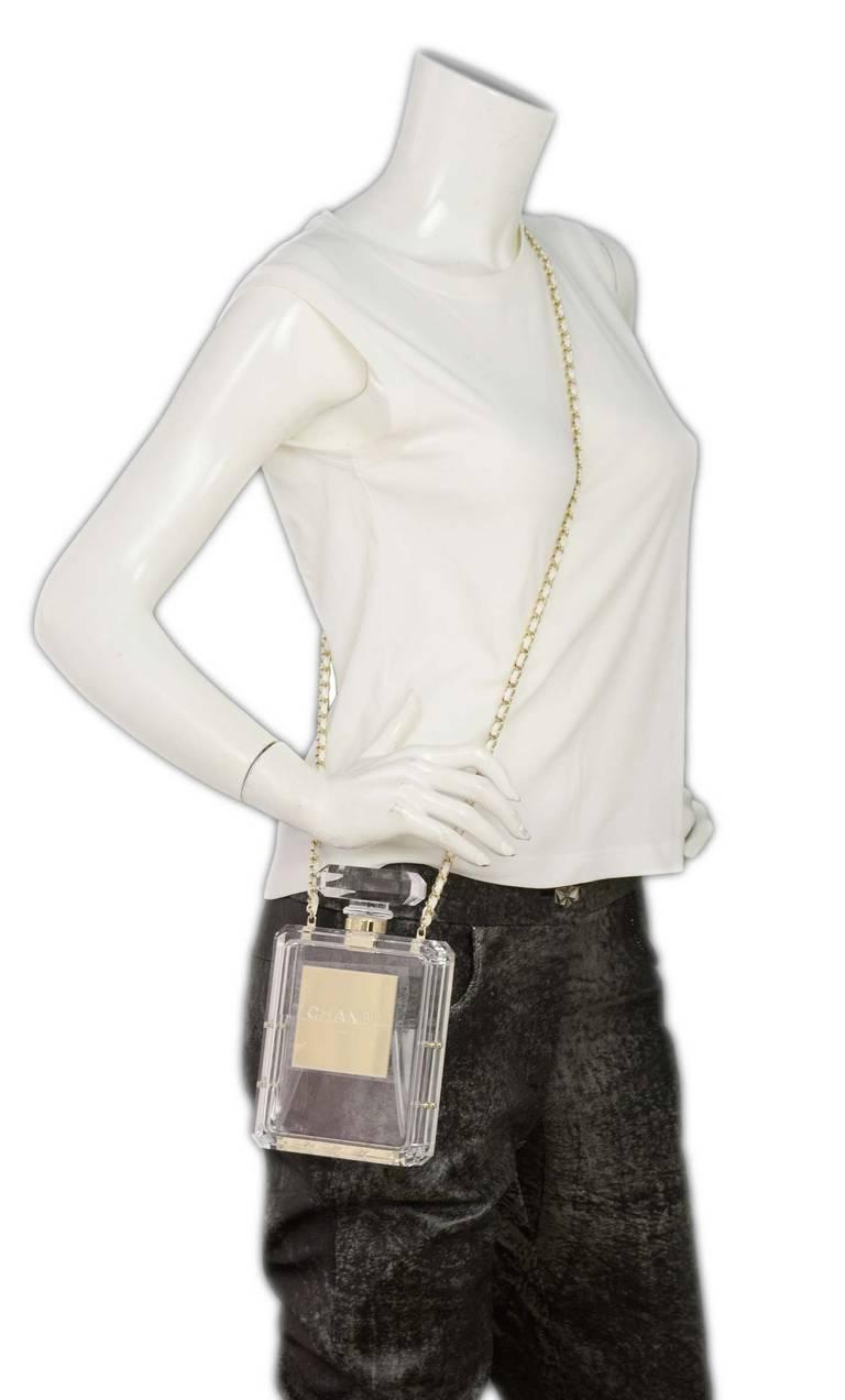 Chanel Nib 2014 Runway Clear Plexiglass No 5 Perfume
